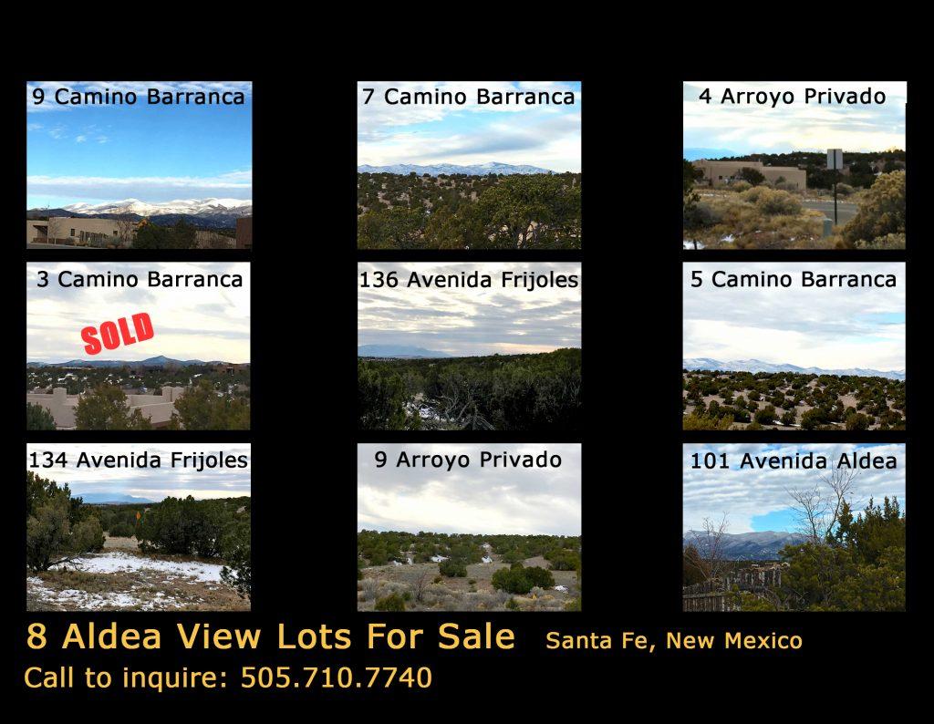 8 lots for sale in santa fe
