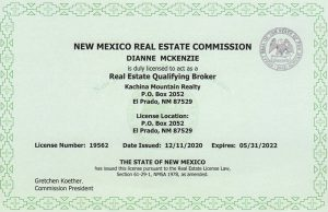 New MExico Real Estate License 19562